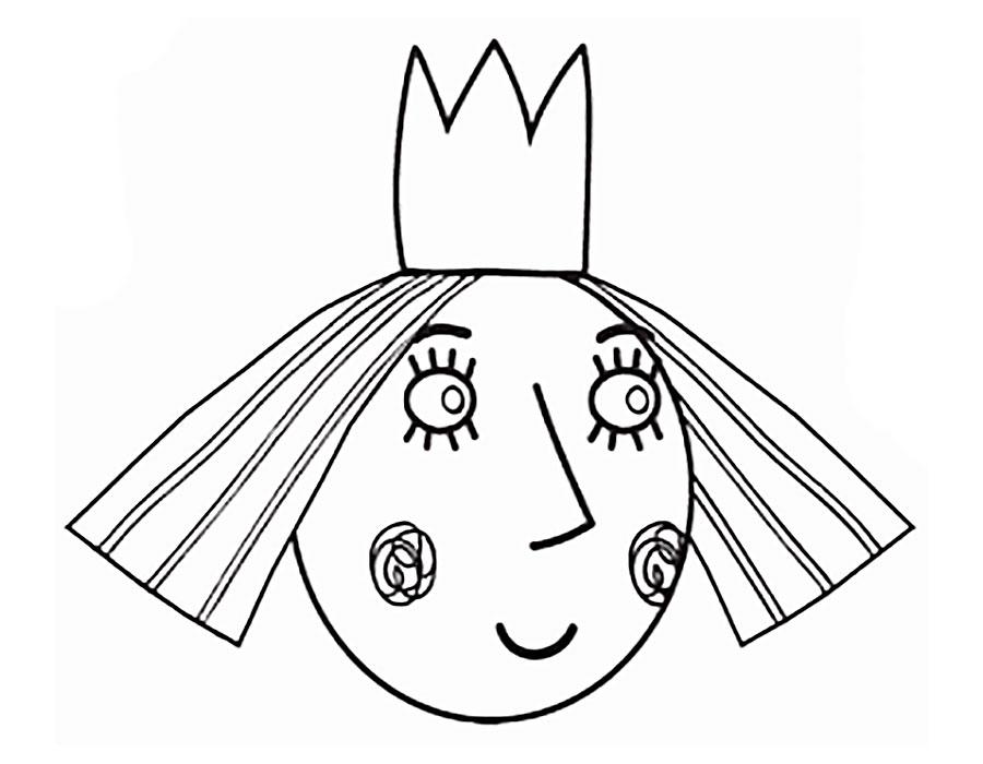 Раскраска принцесса холли распечатать