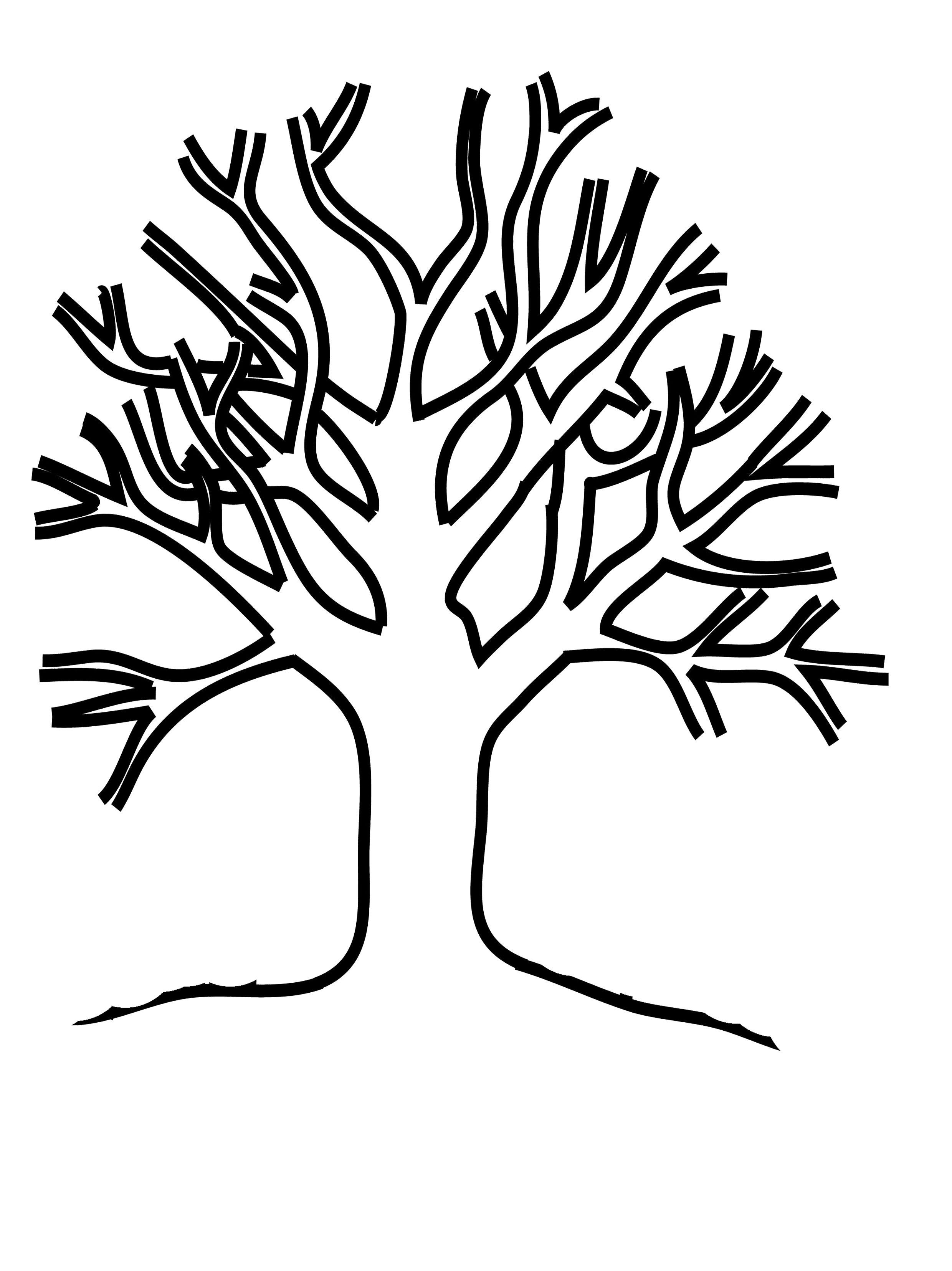 Раскраска Дерево без листьев - детские раскраски ...