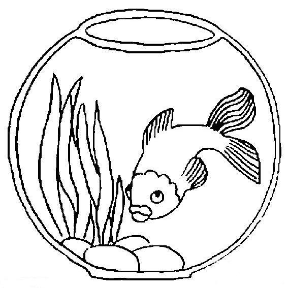 Раскраска Рыбки в аквариуме - детские раскраски ...