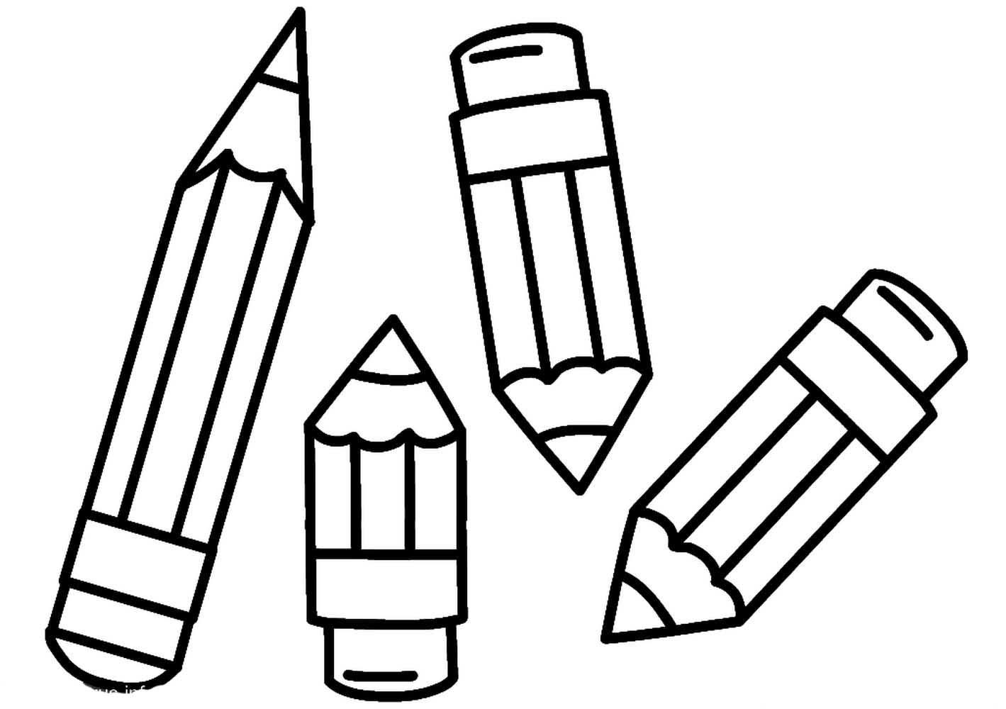 карандаш картинка с двух частей