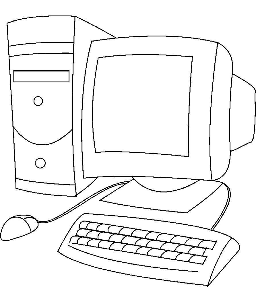 Raskraski Kompyuter Detskie Raskraski Raspechat Besplatno