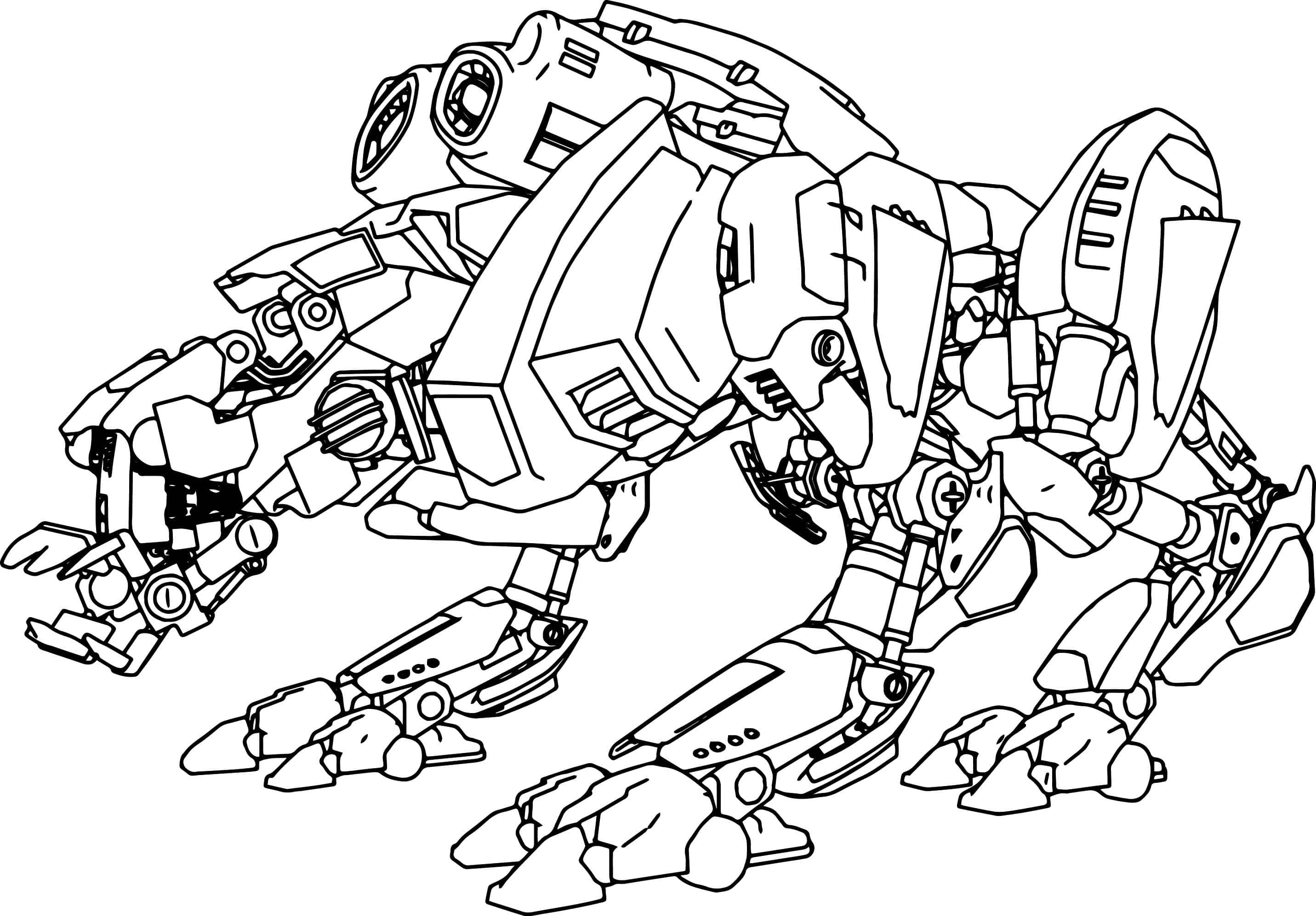 Раскраски Робот - детские раскраски распечатать бесплатно