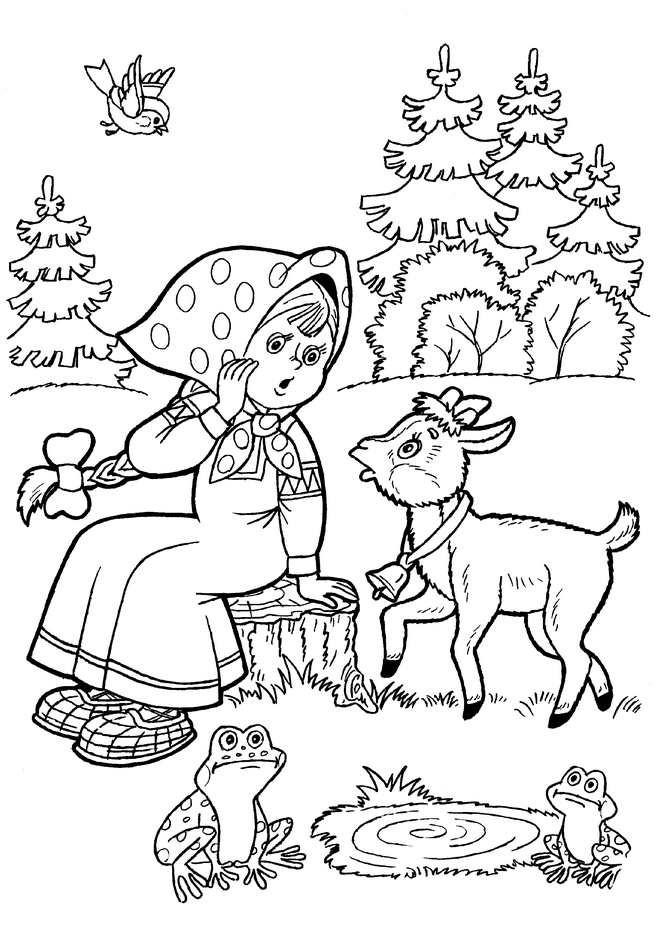 Иллюстрации к сказкам русским народным раскраски