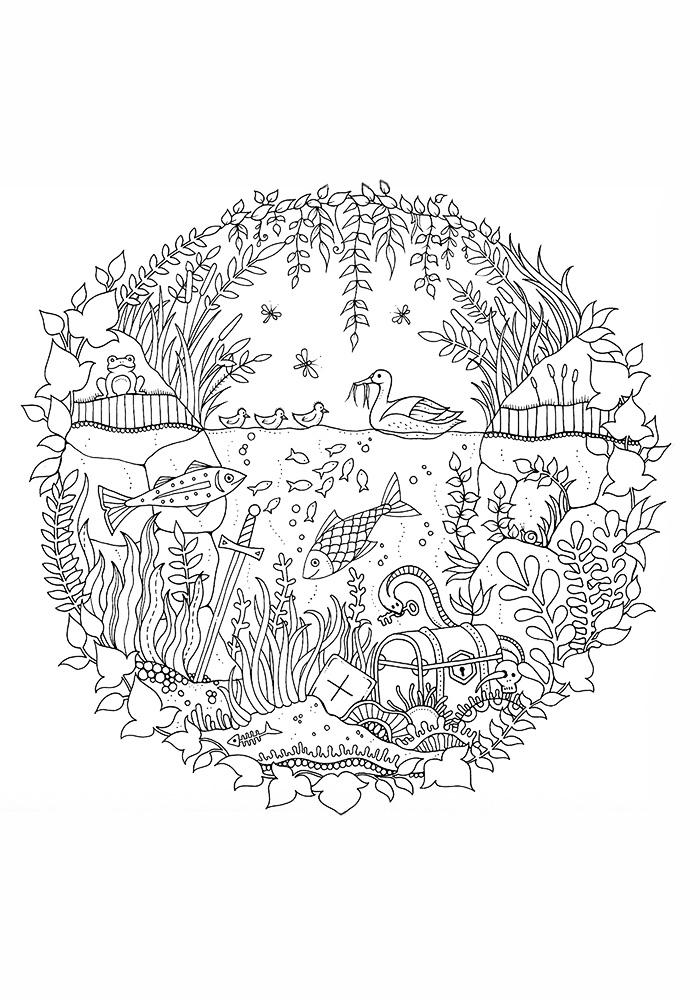 Волшебный сад раскраска антистресс джоанна