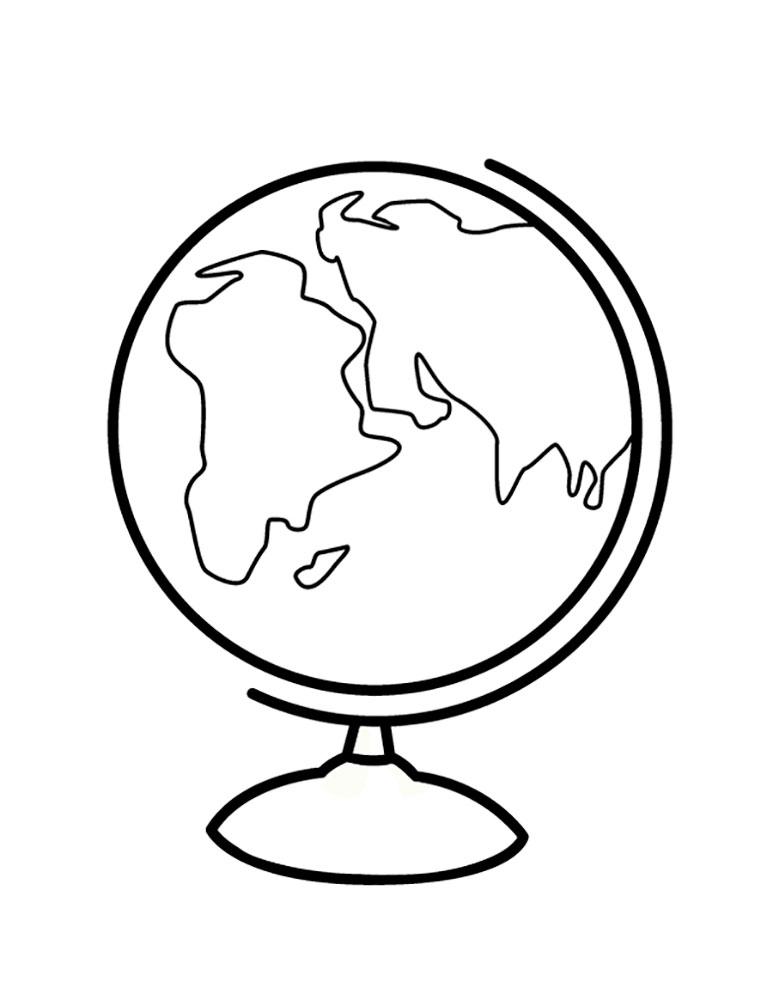 Открытка на день учителя рисовать глобус