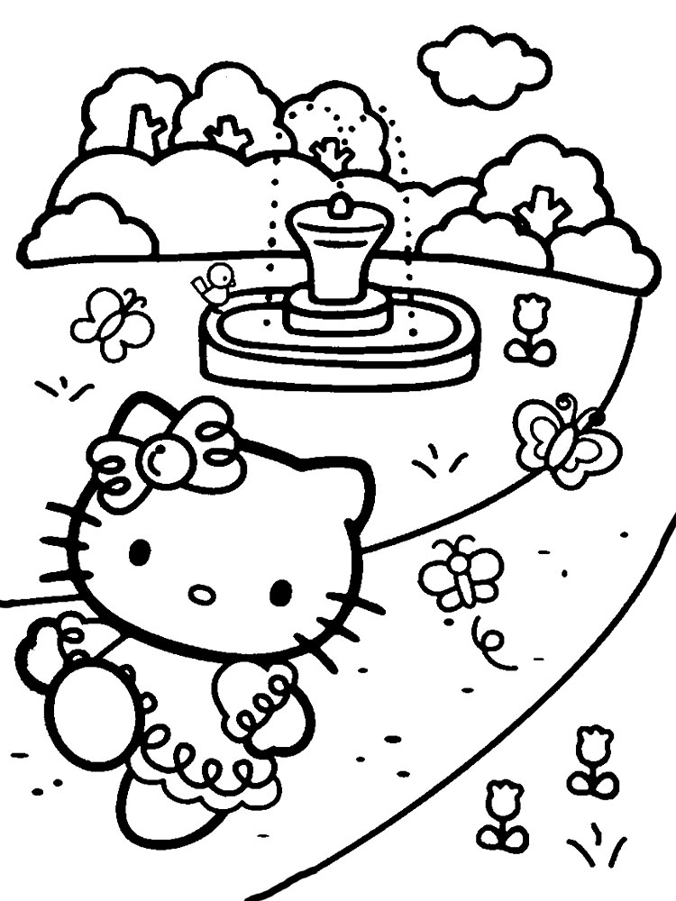 раскраски хелло китти детские раскраски распечатать бесплатно