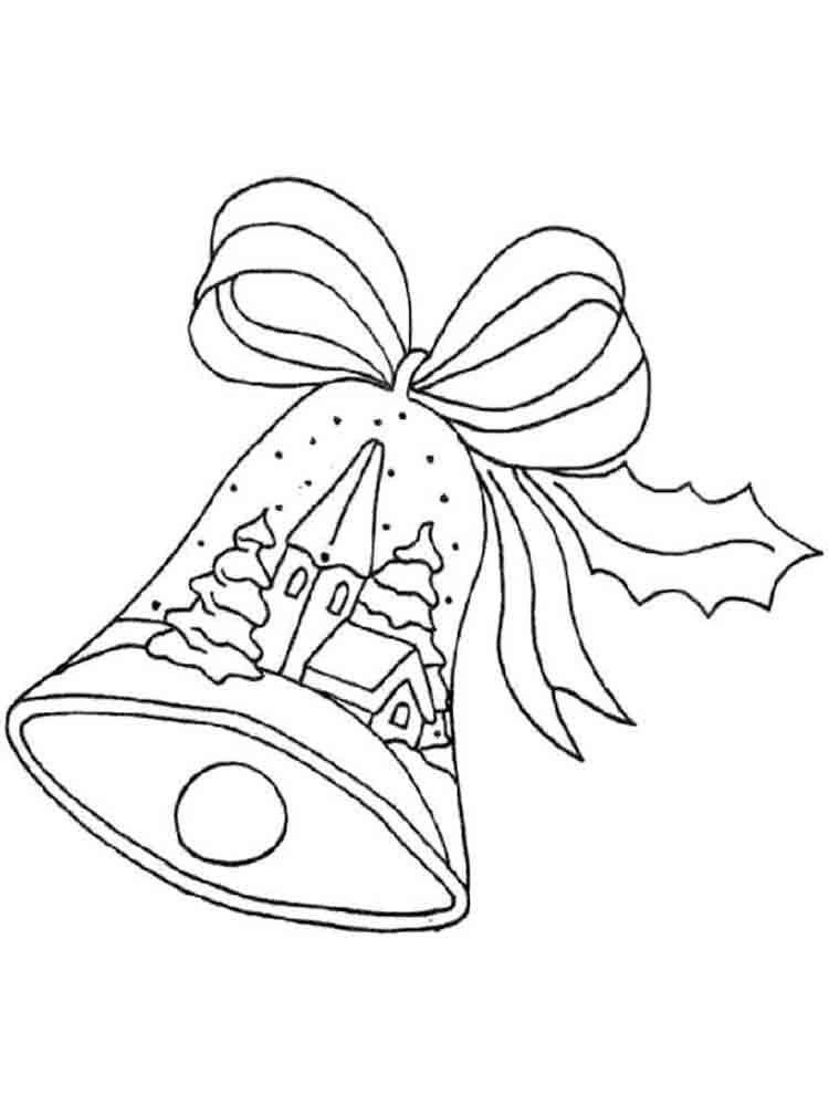 картинки раскраски колокольчики новогодние увидел единственный такой