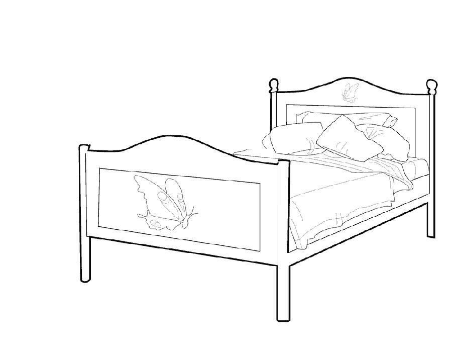 Для подруги, кровать картинки нарисованные