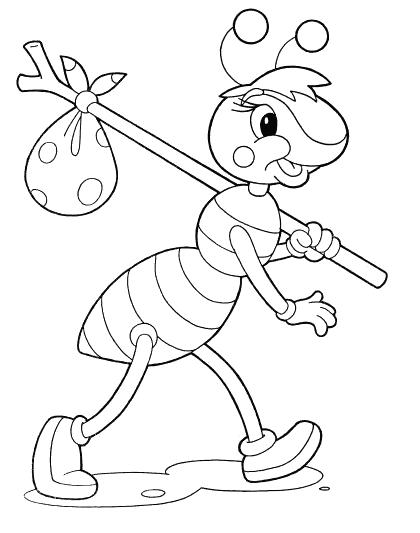 муравей картинка раскраска