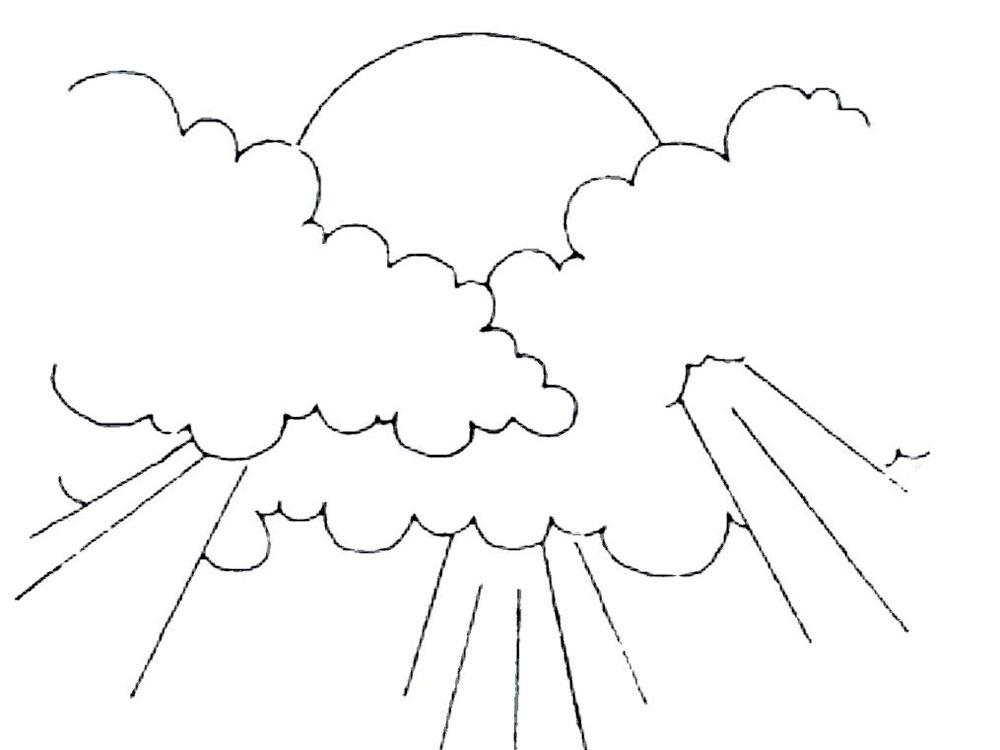 Раскраски Облако - детские раскраски распечать бесплатно