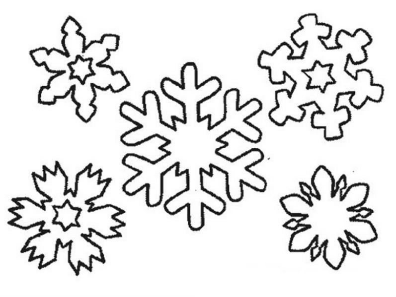 Снежинка картинка раскраска