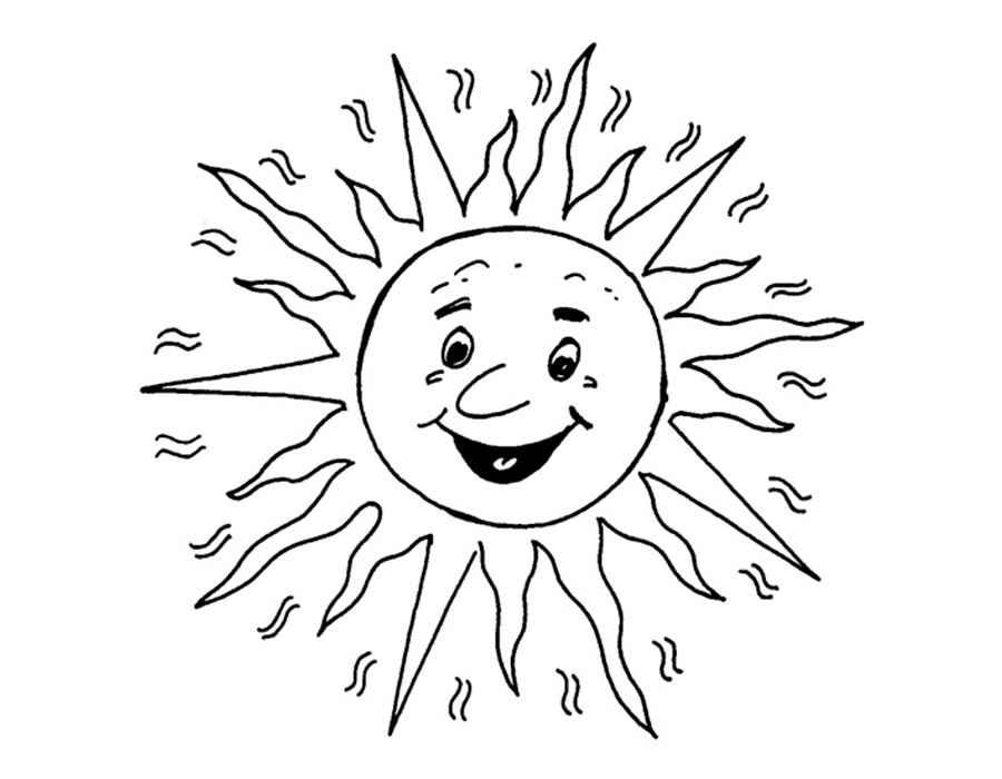 Солнце картинки для детей раскраска, время приключений