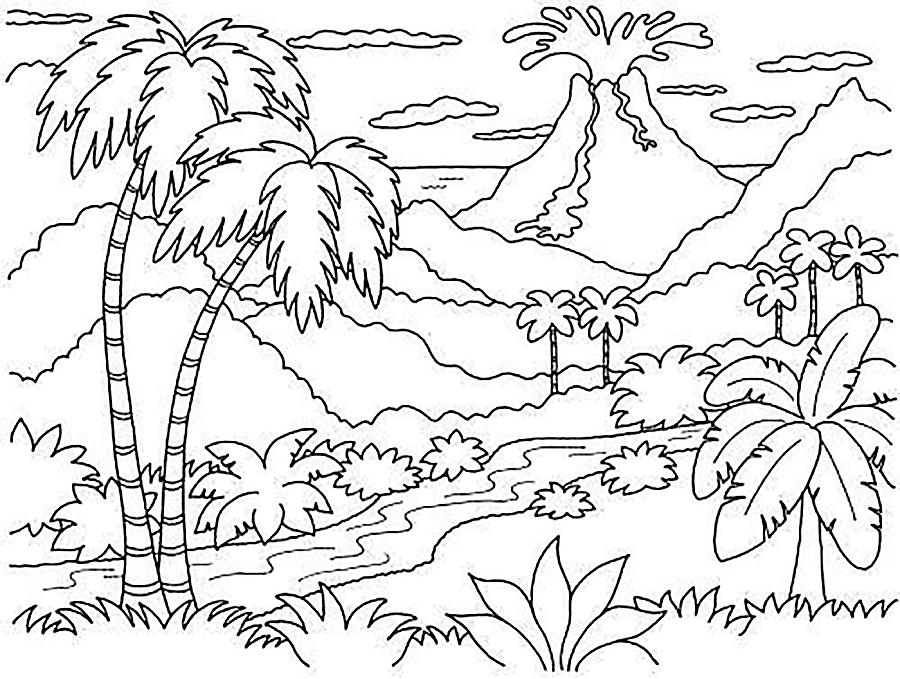 пол африканский пейзаж рисунки карандашом вновь предлагаем вам