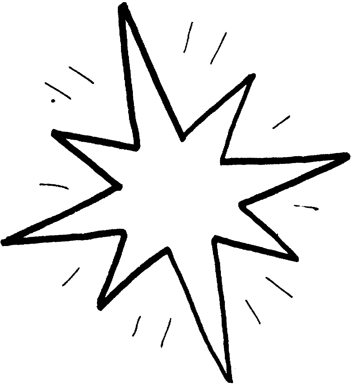 Картинки звёзд раскраски