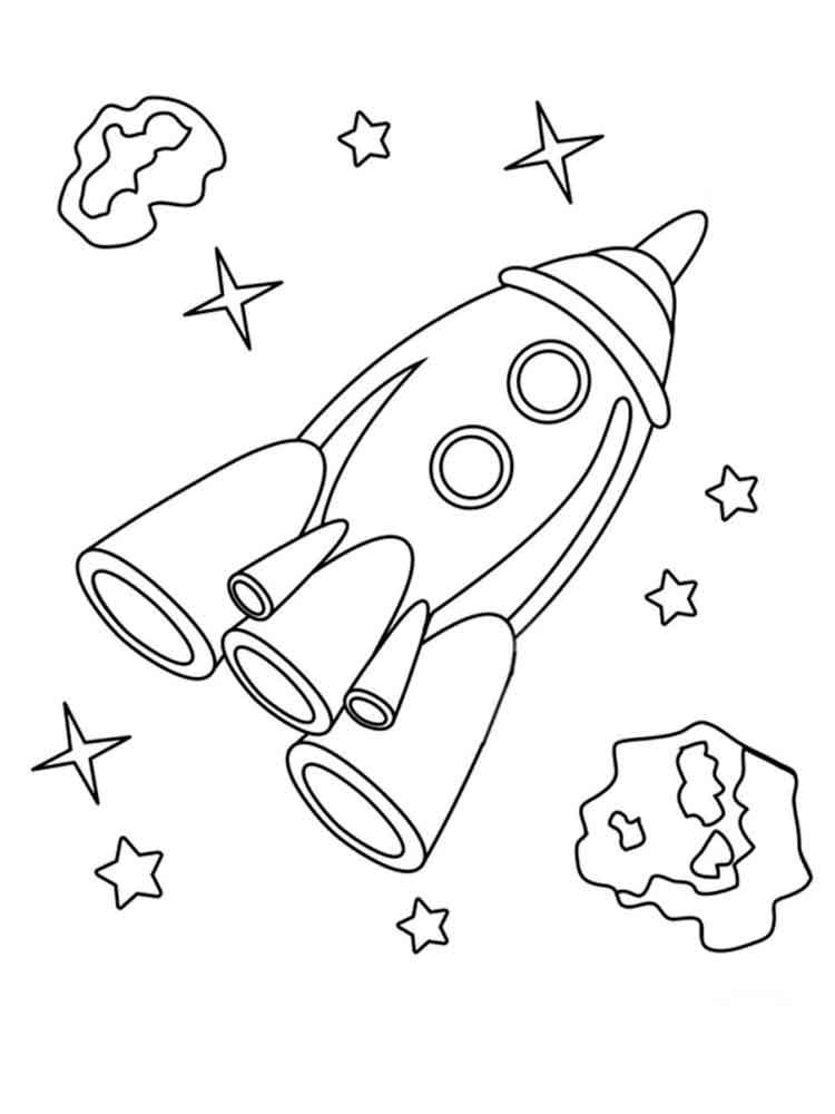Картинки для детей ко дню космонавтики раскраски
