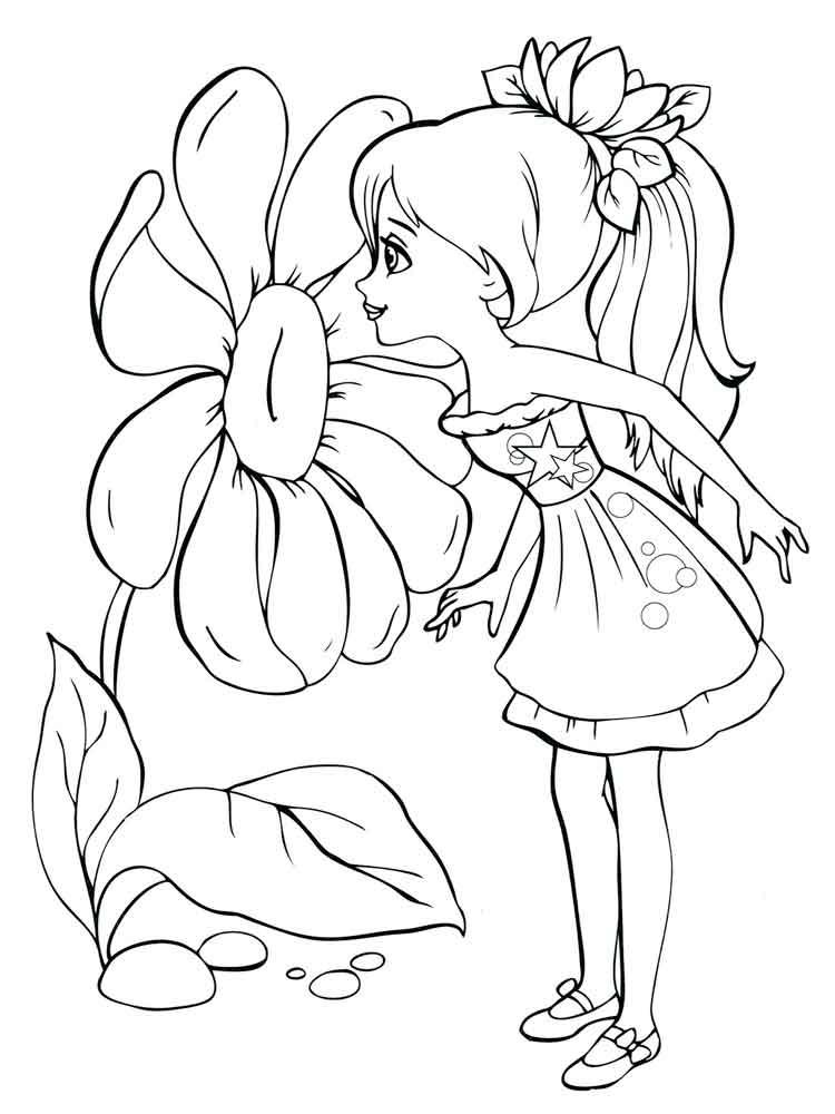 Картинки девочка с цветами раскраска, картинки веселых
