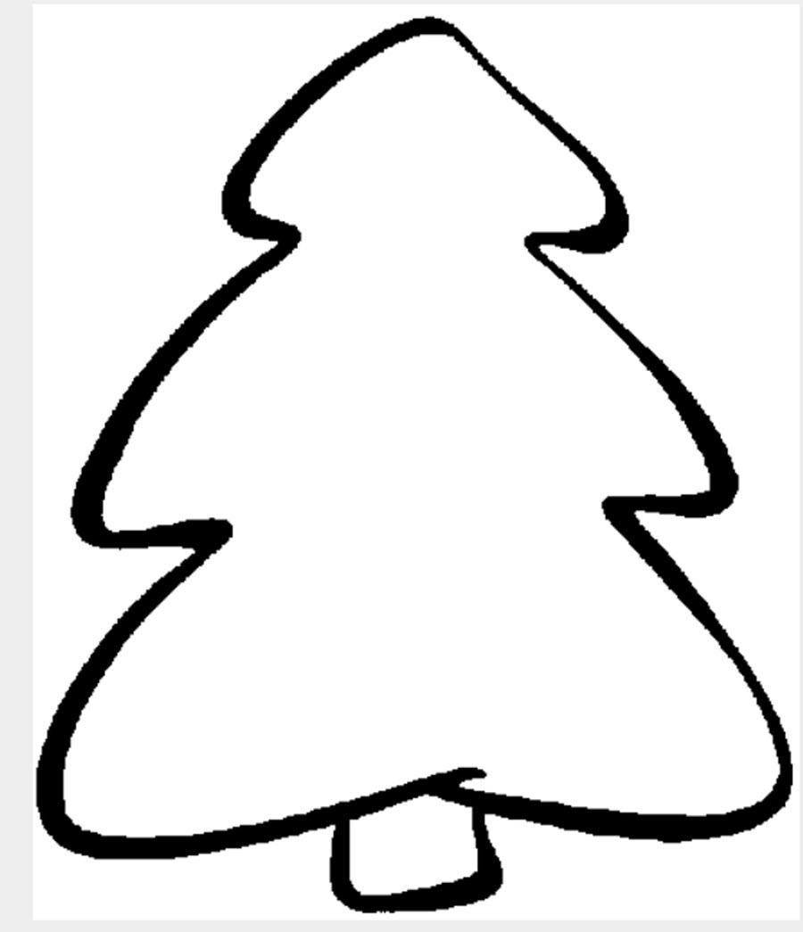 Картинки для детей елка раскраска