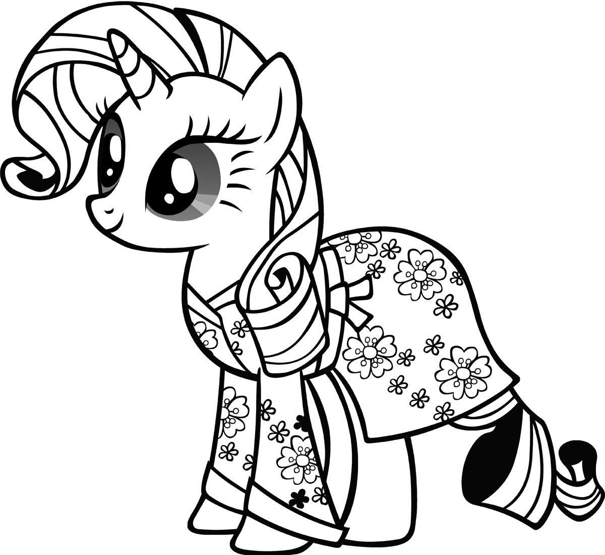 Раскраски милые пони распечатать бесплатно