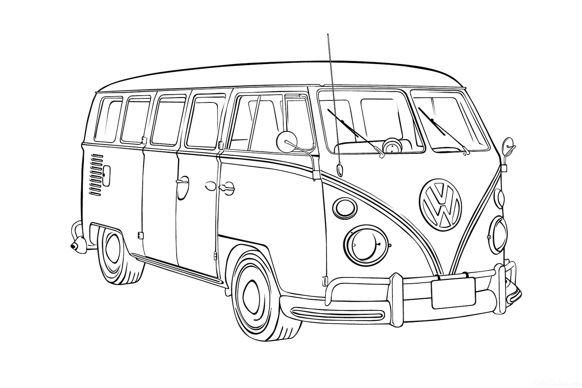вышла микроавтобус картинка рисунок две