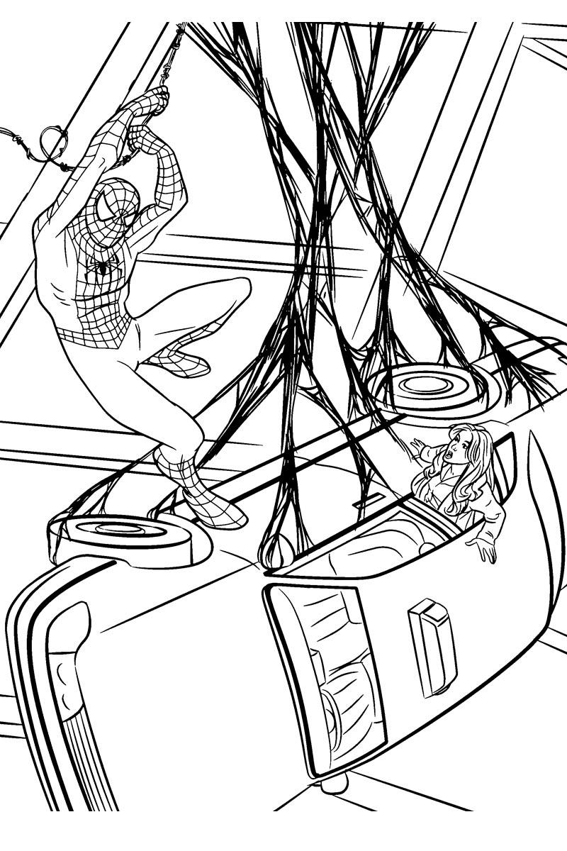Раскраски Человек Паук - детские раскраски распечатать ...