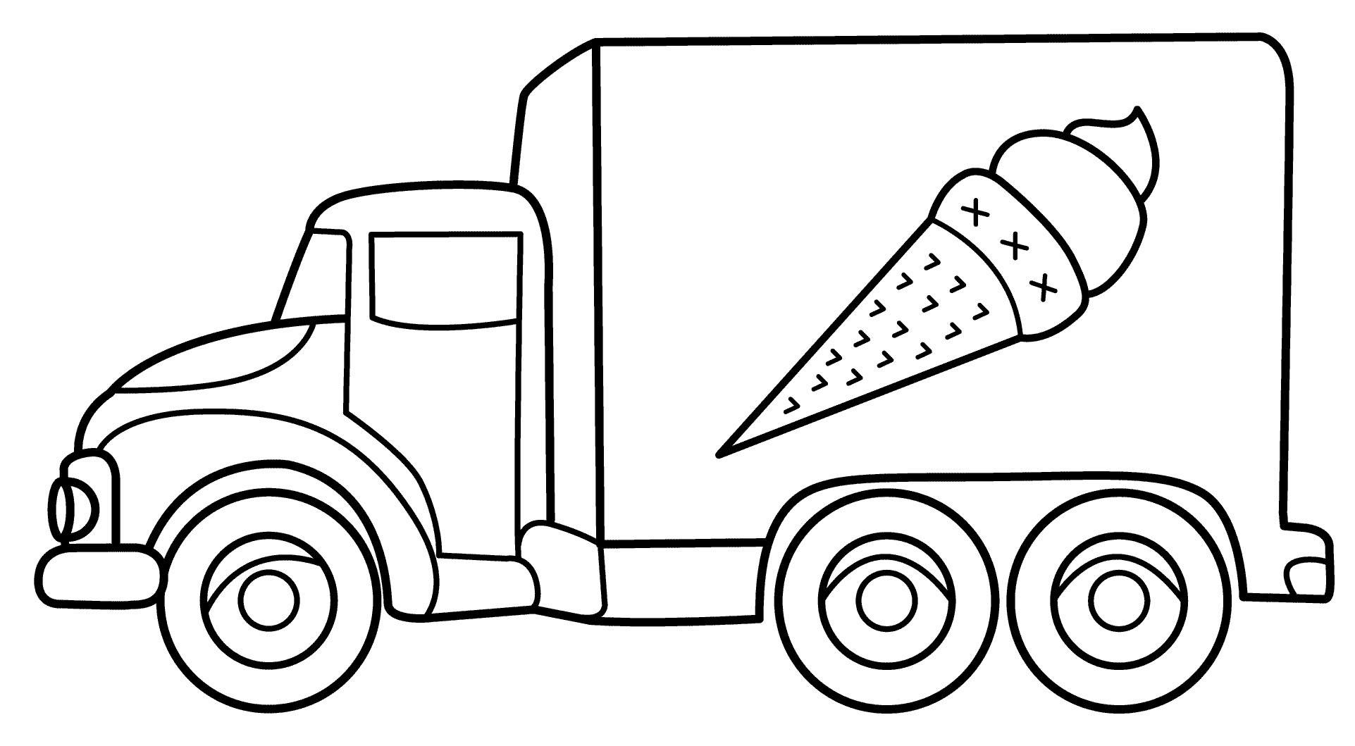 Раскраски машинки грузовики для малышей