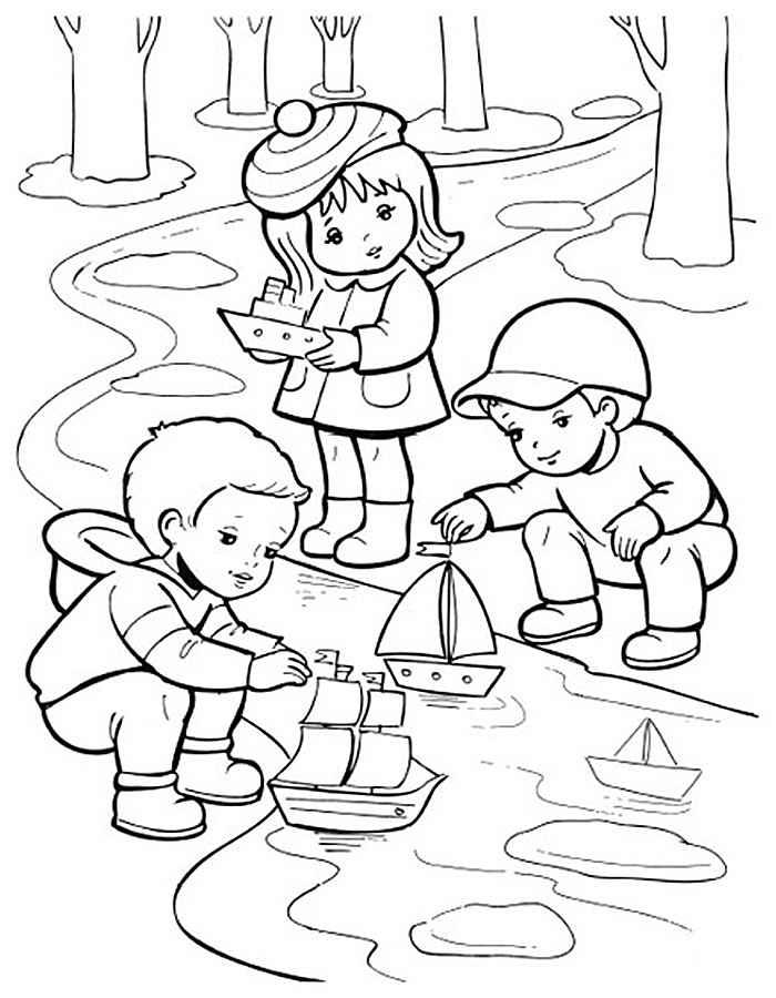 Раскраска для детей про весну
