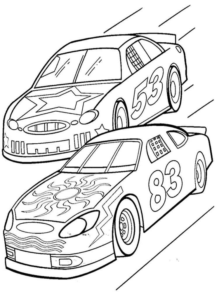 раскраски гоночные машины детские раскраски распечатать