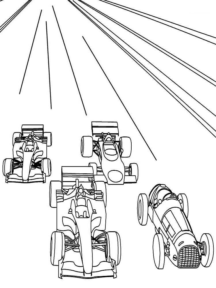 Раскраска гонка