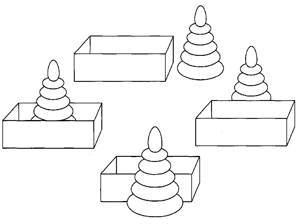 Детская пирамидка картинки раскраски