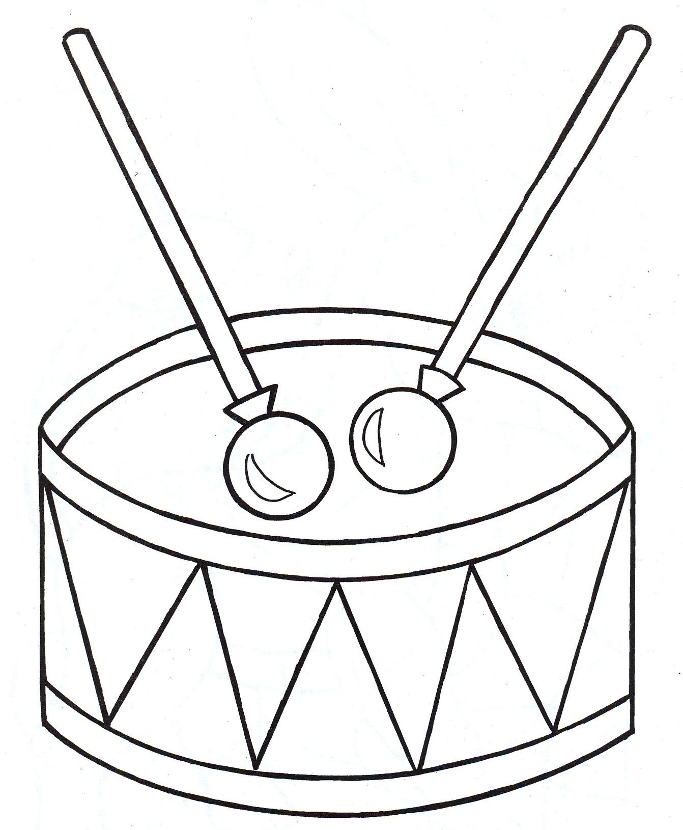 Картинки барабана раскраски