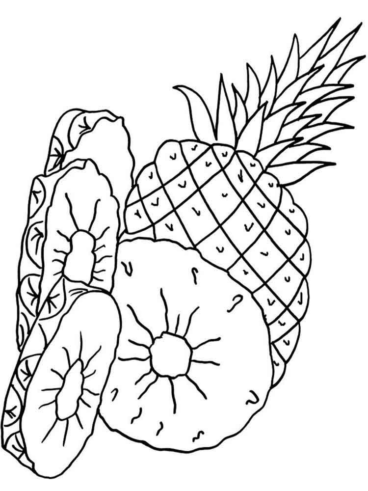 ананас раскраска для малышей обои для дома
