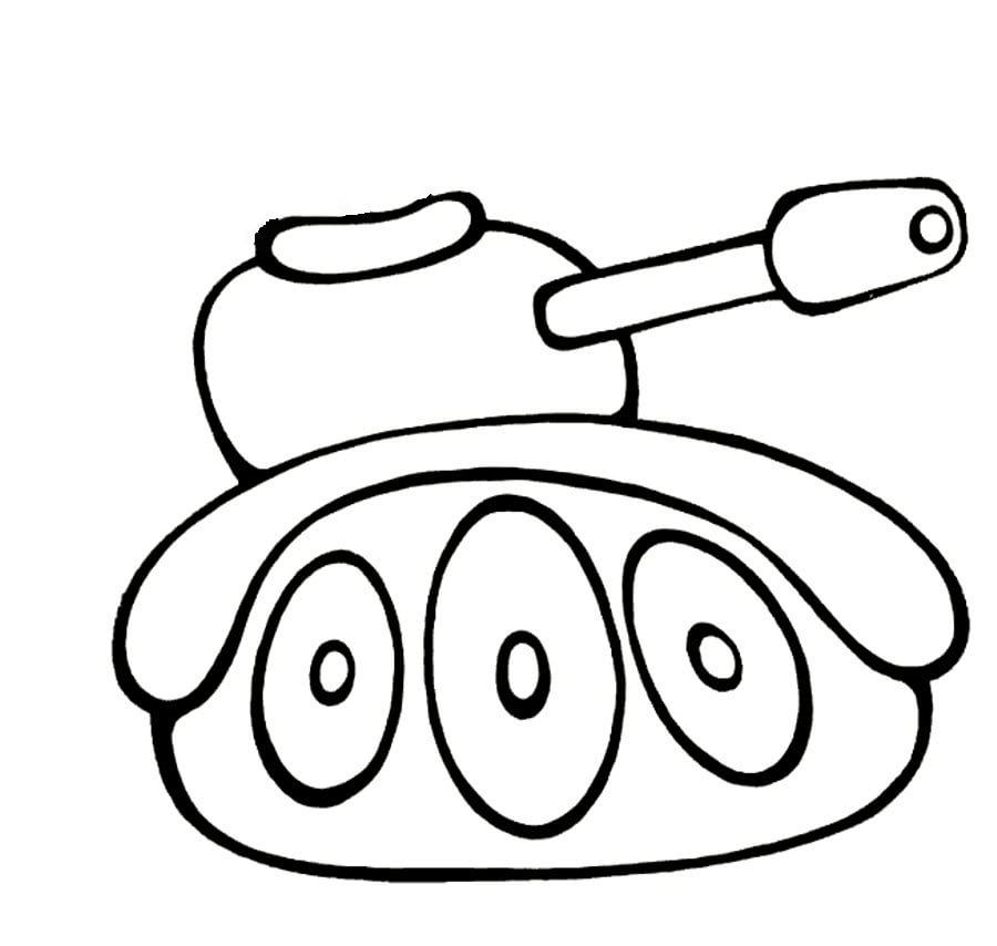 Днем бабушки, картинка танка для открытки