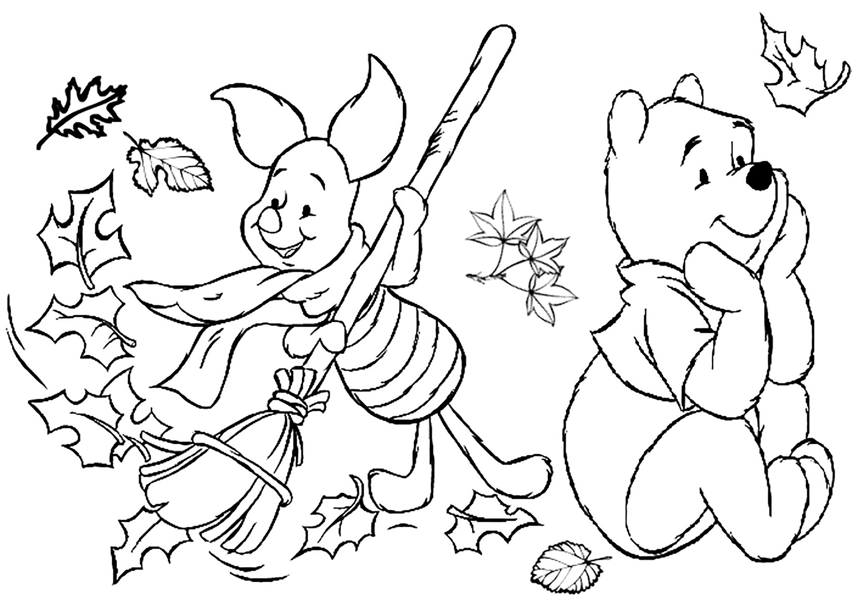 Раскраски для детей осень распечатать бесплатно формат а4