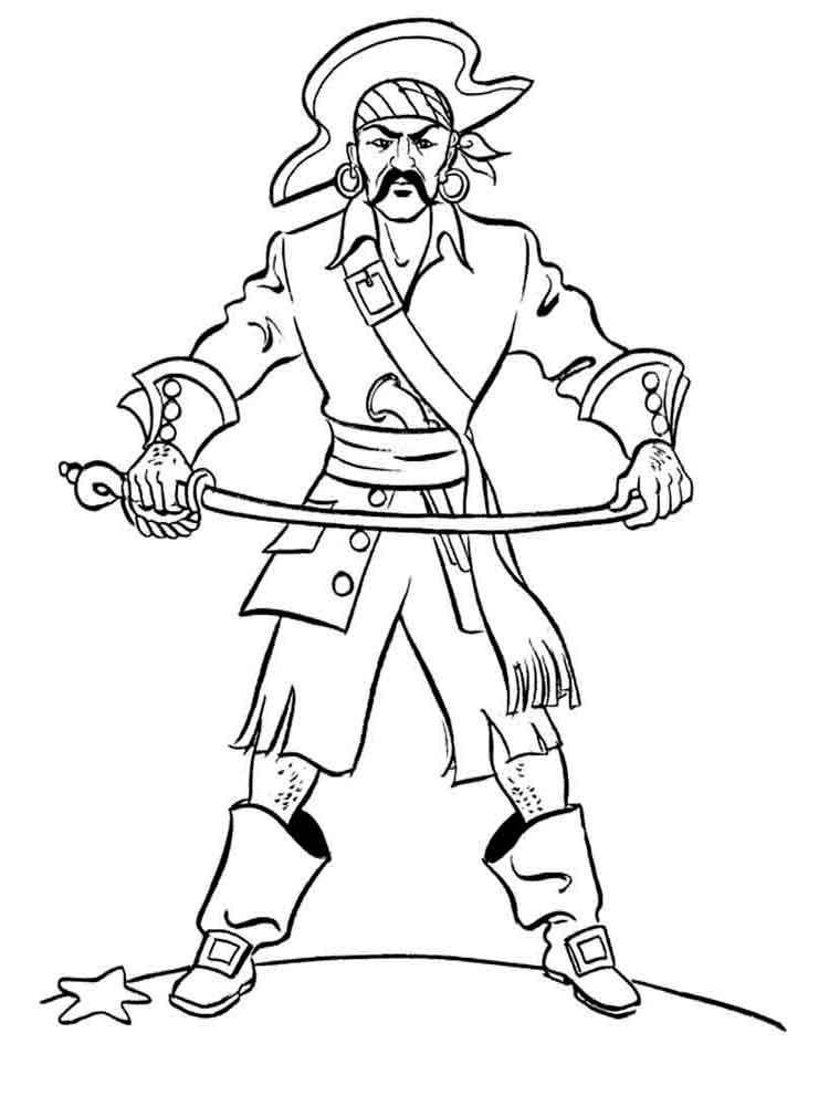 Раскраска для мальчиков распечатать пират