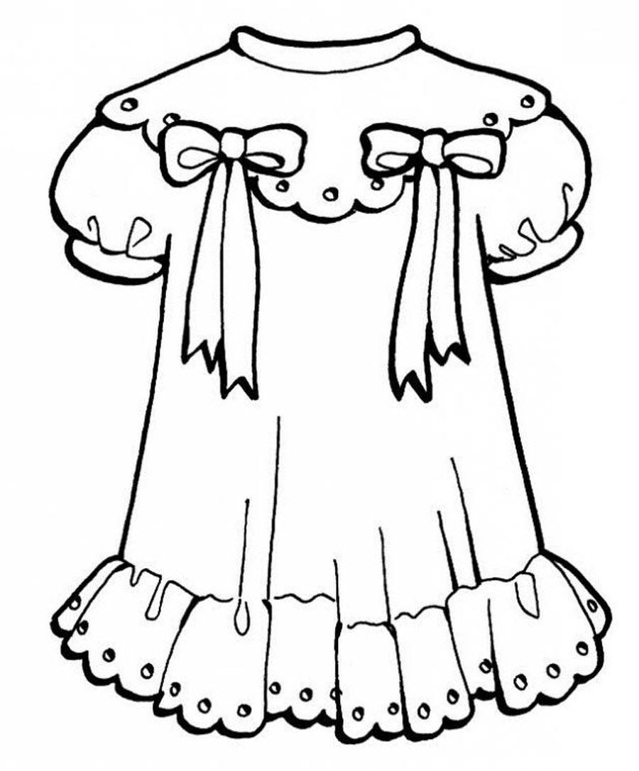 раскраски платье для куклы распечатать раз медведи