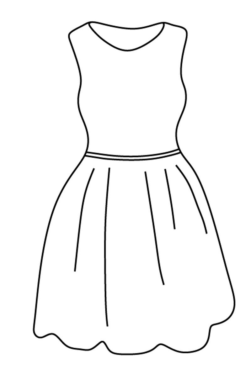 Раскраска Одежда - детские раскраски распечатать бесплатно