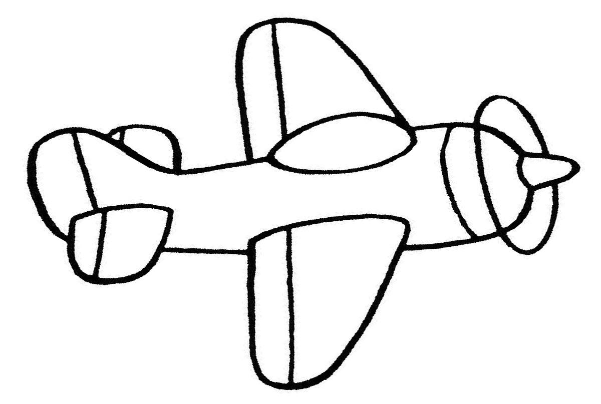 Самолет раскраски картинки 189