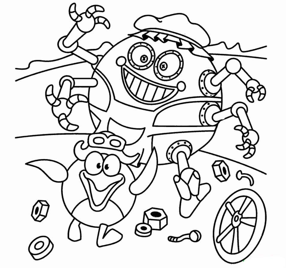 Раскраски Смешарики - детские раскраски распечатать бесплатно