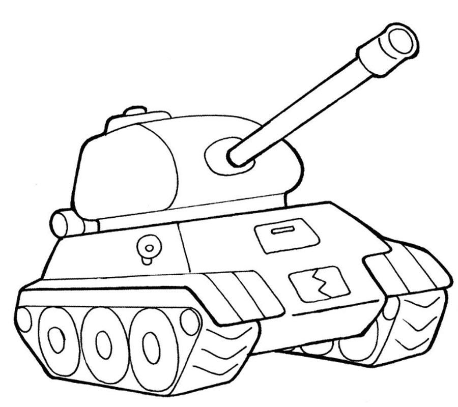 Раскраска детская танки