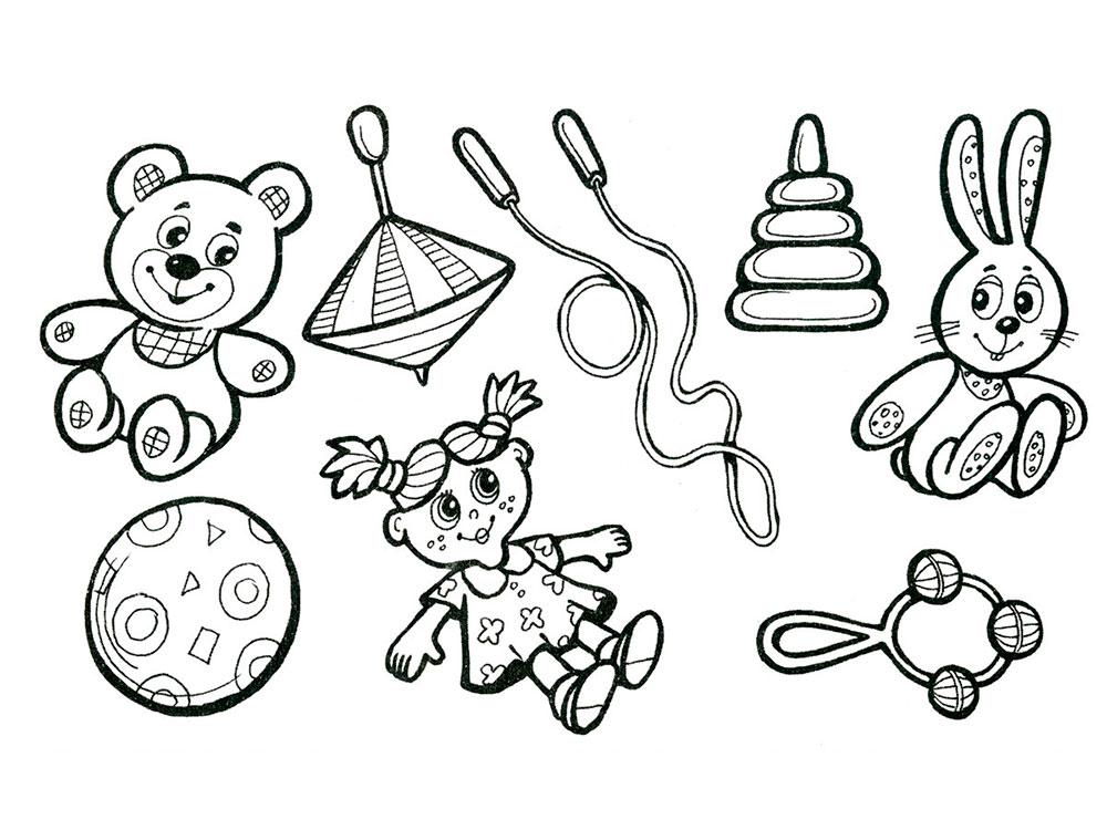 картинки раскраски игрушки