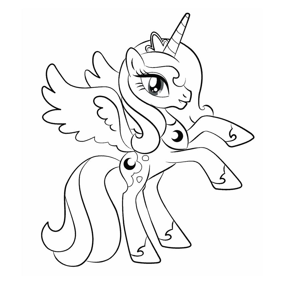Мой маленький пони раскраски распечатать
