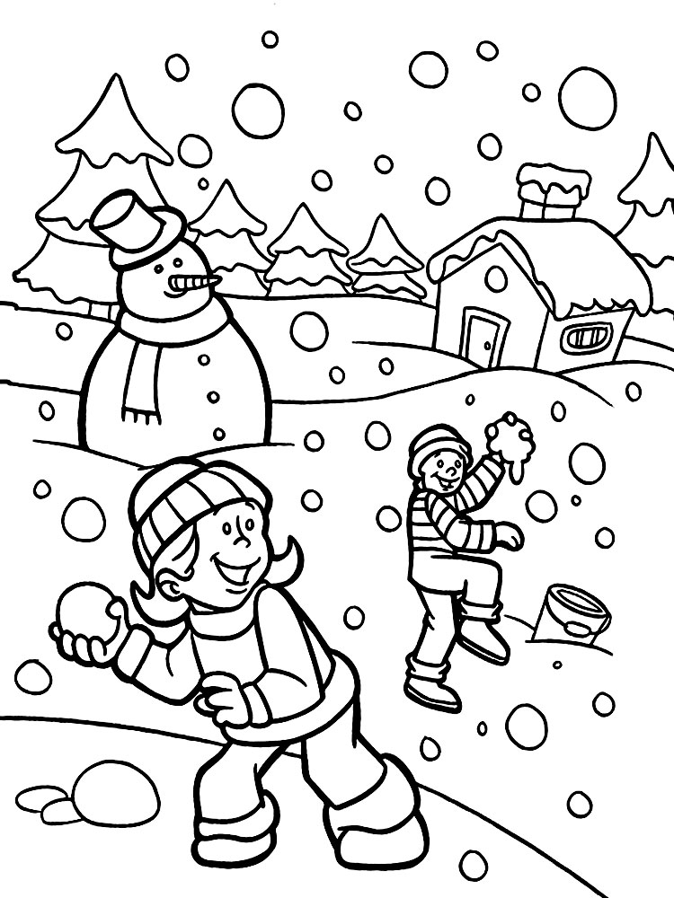Раскраска Времена года для детей - детские раскраски ...