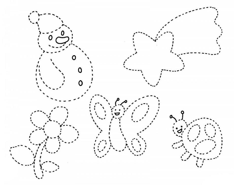 Раскраски по точкам для детей 3-4 лет - детские раскраски ...