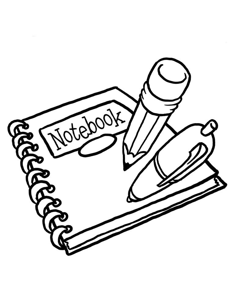 Раскраска канцелярия ручка