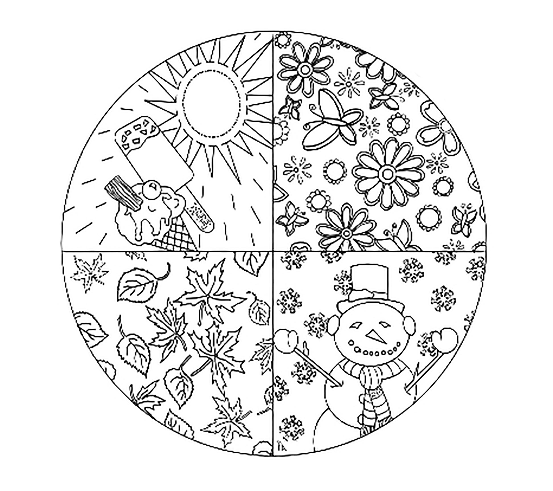 раскраска времена года для детей детские раскраски