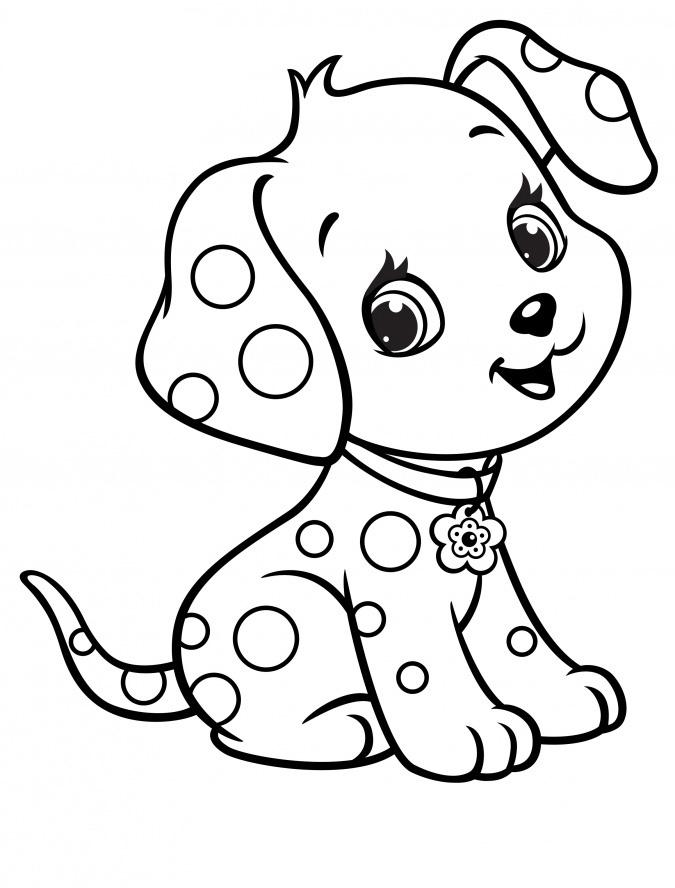 Раскраски про щенков