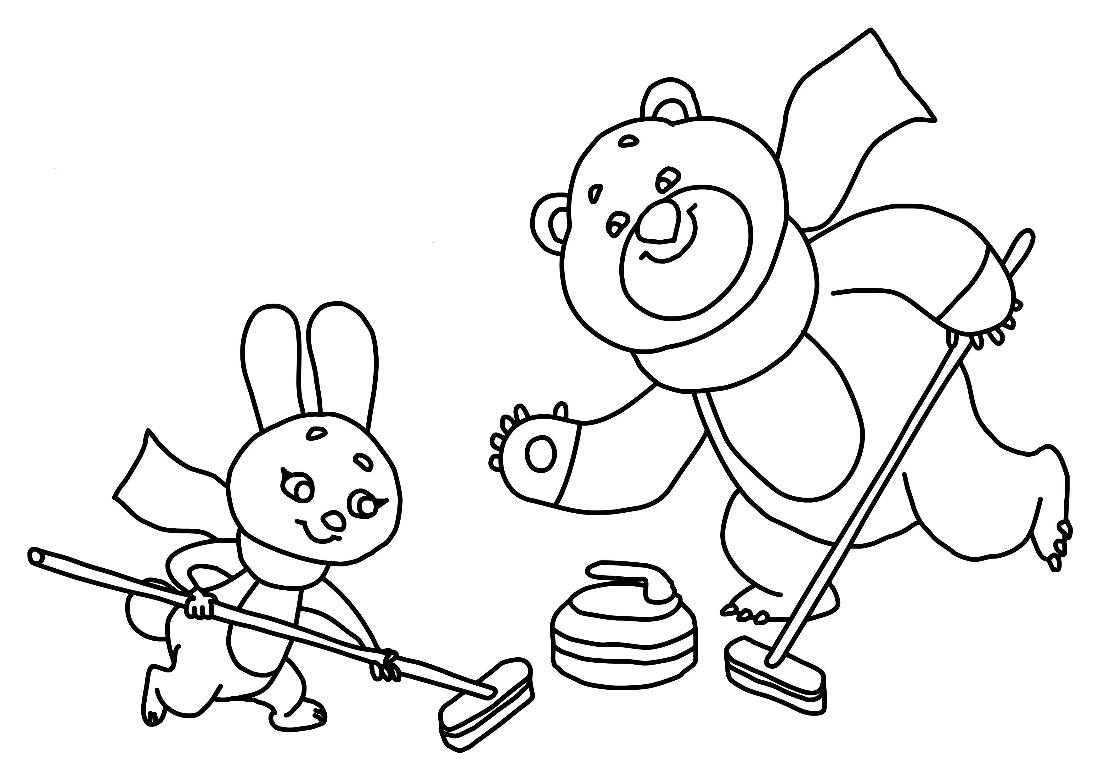 Раскраски о олимпиаде для детей