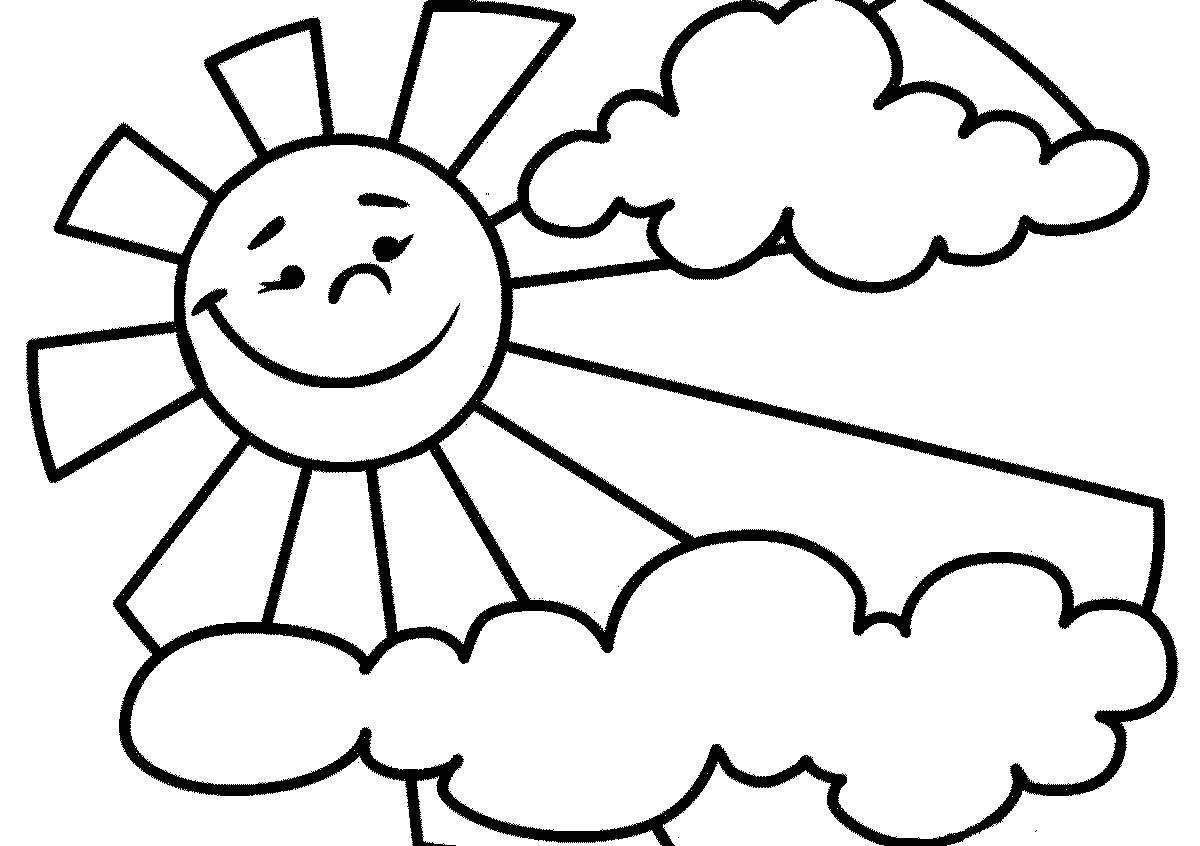 Солнышко раскраска для малышей - 4