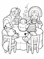 Чаепитие у Деда Мороза