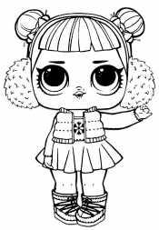 Кукла Лол в наушниках